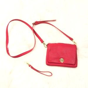 Charming Charlie crossbody/ wristlet in red